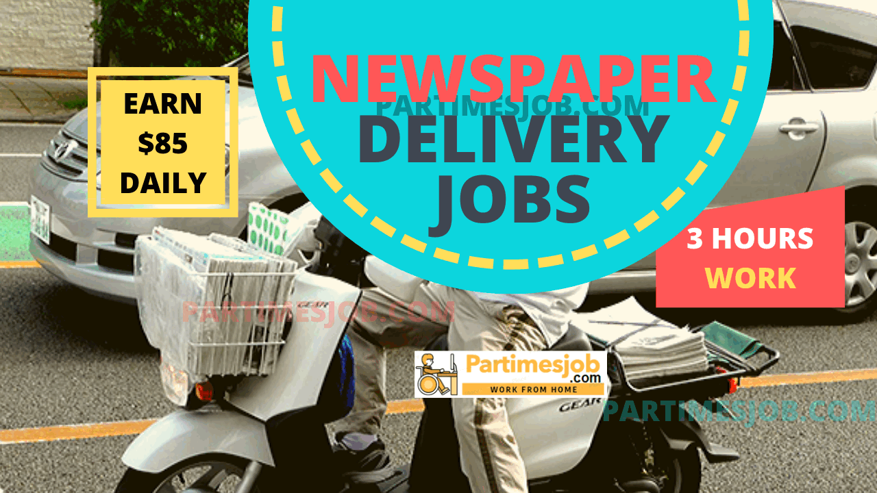 Early Morning Newspaper Delivery Boy Jobs Earn 95 For Daily Route